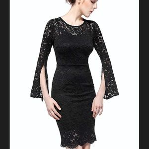 Dresses & Skirts - NWT black lace fitted dress